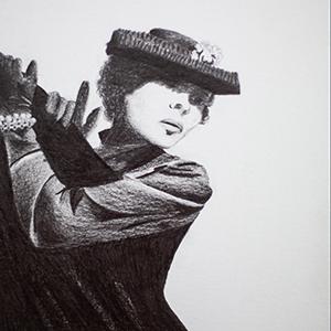 La Femme Cartier - crayon