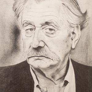 Portrait Ettore Sottsass - crayon
