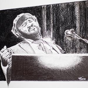 Portrait Gregory Porter - crayon