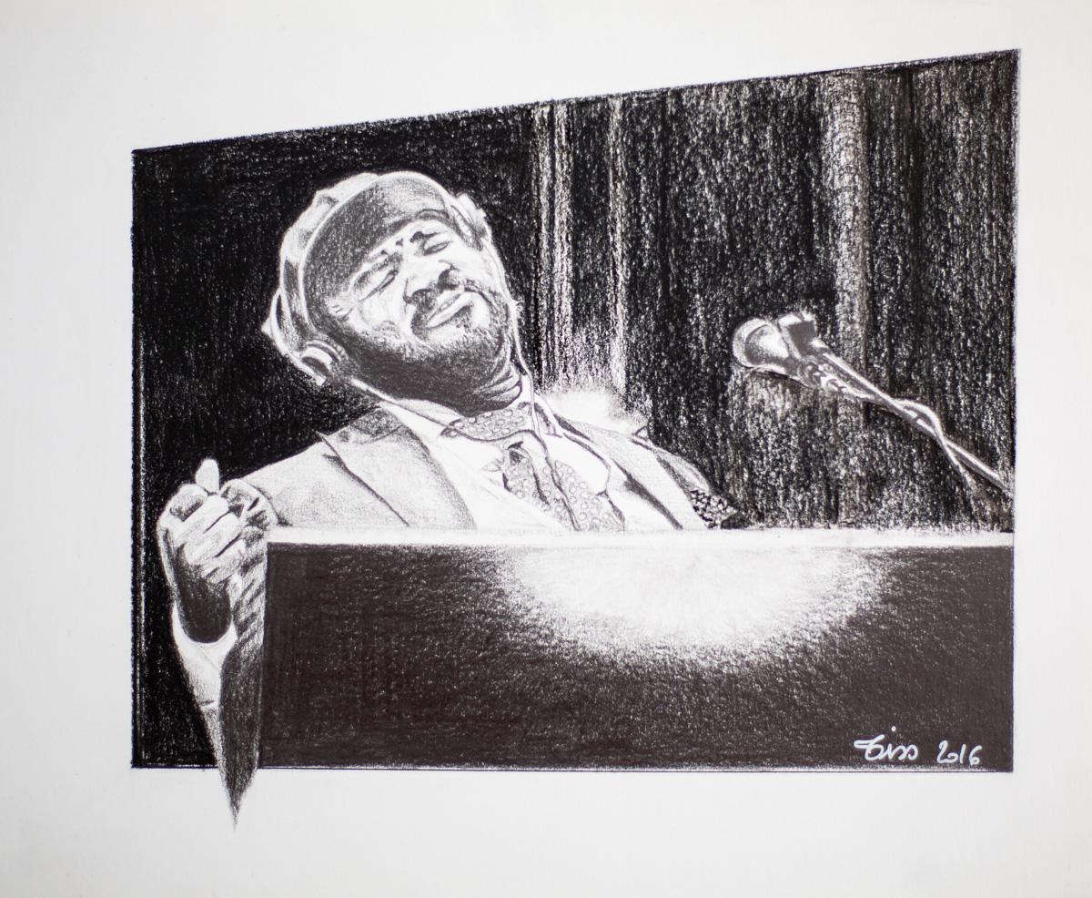 Portrait Gregory Porter -crayon