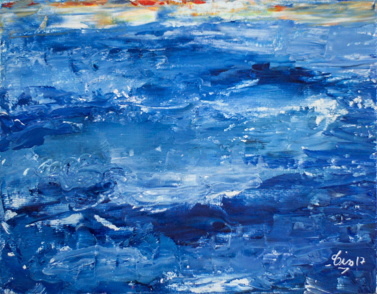 Tissart Huile Mer bleu