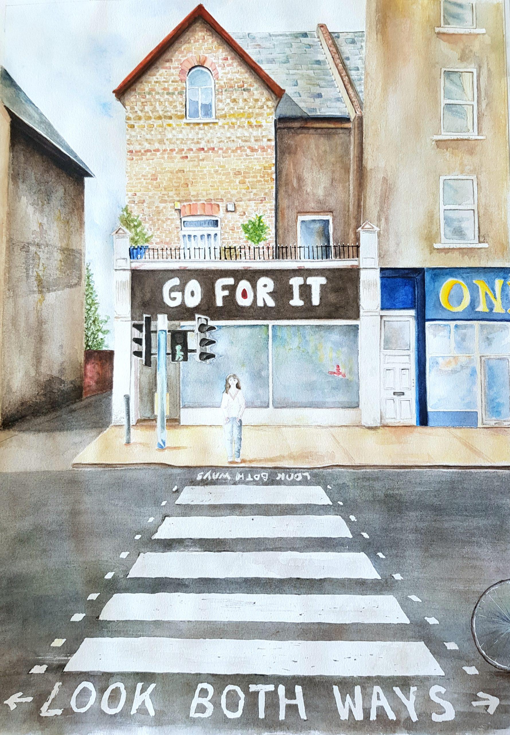 Rue Londres aquarelle Tiss